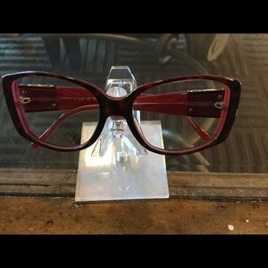 Judith Leiber no lense frame with  crystals